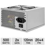 Ultra LS500 Lifetime Series 500W Power Supply - ATX, SATA-Ready, PCI-Express, Lifetime Warranty w/ Registration