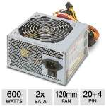 Ultra LS600 Lifetime Series 600W Power Supply - ATX, SATA-Ready, PCI-Express, Lifetime Warranty w/ Registration
