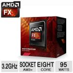AMD FX-Series FX-8320E - 3.2GHz FX Series Processor - Turbo 4GHz, 8MB L2 Cache, 95 Watt, Socket AM3+, Box - FD832EWMHKBOX