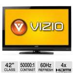 "Vizio E422VA 42"" Class LCD HDTV - 1080p, 1920 x 1080, 60Hz, 5ms, 50000:1, Vizo Internet Apps, Wi-Fi, (Refurbished)"