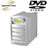 VinPower SharkNet-3T-DVD SharkNet 1:3 CD/DVD Duplicator - DVD-R 20x, DVD-RW 6x, DVD+RW 8x, CD-R 48x, CD-RW 32x, USB 2.0, Megabit Lan,    250GB Hard Drive