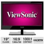 "ViewSonic VT1901LED 19"" Class LED HDTV - 1366 x 768, 16:9, 1000:1 Native, 5ms, HDMI, VGA, USB, Energy Star"