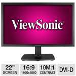 "ViewSonic VA2251m-TAA 22"" Class LED Monitor - 1920 x 1080, 16:9, 10000000:1 Dynamic, 1000:1 Native, 5ms, VGA, DVI-D, Energy Star"