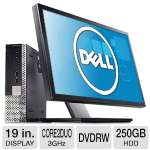 Dell Optiplex 780 All-In-One PC - Intel Core 2 Duo 3.0GHz, 2GB DDR2, 250GB HDD, DVDRW, 19 in. Display, Windows 7 Home Premium 32-bit (RB-VSS780US19) (Off-Lease)