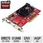 VisionTek 900374 Radeon HD 3450 Video Card - 512MB, DDR2, AGP 8X, DVI, VGA, DirectX 10.1, Single-Slot