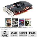 VisionTek Radeon HD 7870 900548 Eyefinity 6 Video Card - 2GB, GDDR5, PCI-Express 3.0 (x16), 6x Mini DisplayPort, DirectX 11, CrossFireX Ready, Eyefinity 6