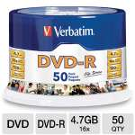Verbatim 97176 Life Series DVD-R Spindle - 50 Pack, 16X, 4.7GB