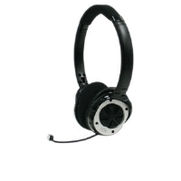 NOX HSG001A0 Specialist Gaming Headset - Dual 26mm Drivers, Microphone, 3.5mm Detachable Cable, PC Splitter, Black