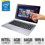 "ASUS Transformer Book Intel Core i3 4020Y 1.5GHz 4GB Memory 64GB SSD 13.3"" Touchscreen Full HD 1920 x 1080 2-in-One Notebook Windows 8 64-bit - T300LA-BB31T - Refurbished"