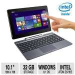 "ASUS Transformer Book - Intel Atom Quad-Core Z3735E 1.33GHz Processor, 2GB Memory, 32GB SSD, 10.1"" 2-In-1 Touchscreen + Keyboard, Windows 8.1 Microsoft Office 365 - T100TAF-B1-BF"