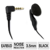 Tessco Sprint Premium Mono 387120 Earbud Headset - 3.5mm Connection, Mute/Answer/End Button, Noise Reduction
