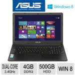 ASUS X501A Laptop Computer - Intel Pentium Dual-Core 2020M 2.4GHz, 4GB DDR3, 500GB HDD, 15.6 in. Display, Windows 8 64-bit (RB-X501A-BSPDN22) (Refurbished)