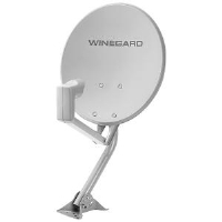"Winegard DS-4248 Home Digital Satellite Antenna - 18"", Dual LNB and Mount"