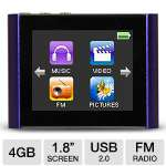 Eclipse T180 4GB MP4 Player Purple