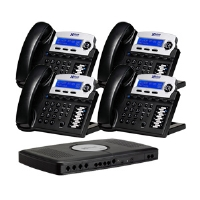 Xblue Networks X16 XB2022-04-CH Digital Speakerphone System - 4 Lines, Charcoal (4-Pack Bundle)