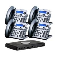 Xblue Networks X16 XB2022-04-TM Digital Speakerphone System - 4 Lines, Titanium Metal  (4-Pack Bundle)
