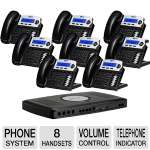 Xblue Networks X16 Digital Speakerphone System - 6 Lines, 2 Hours Of Message Storage, Charcoal (8-Pack Bundle)