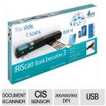 IRIScan Book 3 Executive Portable Scanner - 300/600/900 dpi, 2.5 Sec per A4, Scans 1600 Pages, LCD Display, USB, Wifi - 457889