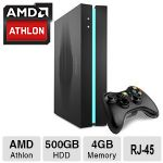 iBUYPOWER SBX Gaming Console - AMD Athlon Quad-Core Processor, 4GB Memory, 500GB HDD, 1GB AMD Radeon R7 250X, Windows 8.1 64-bit - IBP-SBX-A500-B