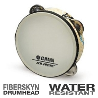 Yamaha RTMKP Real Rhythm Tambourine - Acousticon, Fiberskyn Drumhead, Water-Resistant