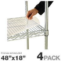 "Alera ALESW59SL4818 Shelf Liner - For Wire Shelving, 4 Pack, 48""x18"" Clear Plastic"