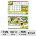 SpinnerZ Dry Erase Learning Mat, Multiplication