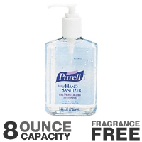 GOJO GOJ965212CMR Purell Instant Hand Sanitizer - 8 Ounce Capacity, Clear Liquid, Pump Dispenser Bottle, Fragrance Free