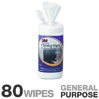 "3M CL610 Electronic Equipment Cleaning Wipes - 80 Wipes per Container, 5.5""x6.6.75"" Cloths, Unscented"