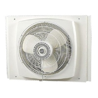 "Lasko 2155A Reversible Window Fan - 16"", 3 Speeds, Three Paddle Blades, Electrically Reversible Motor"