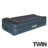 Intex 66705E Pillow Rest Airbed - Twin Size, Built-in Electric Pump, Waterproof Flocked Top