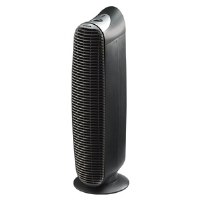 Honeywell HHT-081 HEPAClean Tower Air Purifier - Permanent Filter, 3 levels, Energy Efficient, Electronic Control, Antimicrobial Treated Filter, AHAM Certified, Black