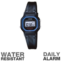 Casio LA-11WB-1 Classic Watch - Water Resistant, Daily Alarm, Timer, Hourly Time Signal, Auto Calendar, Black