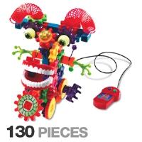 Learning Resources LER9202 Gears! Gears! Gears! Wacky Wigglers - 130 Pieces, Colorful Gears, Flashing Lights, Glow-in-the-dark Eyeballs, Ages 5-9