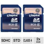 Kingston - Flash memory card - 8 GB - Class 4 - SDHC (pack of 2 )