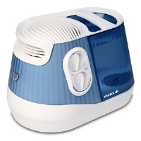 Vicks V4500 FilterFree Humidifier - 1 Gallon Capacity, Vapor Therapy, Intergrated Scent Pad Heater, Adjustable Mist Intensity, Removable Tank