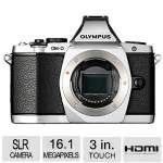 "Olympus OM-D E-M5 Mirrorless Camera (Body Only) - 16.1 Megapixel, 3"" Touchscreen OLED - Optical (IS), 4608 x 3456 Image, 1920 x 1080 Video, HDMI, PictBridge, HD Movie Mode, Silver - V204040SU000"