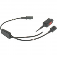 Plantronics Y Adapter Trainer - Headset splitter - Quick Disconnect to Quick Disconnect - for  M12, P10, P10A; A 20; CA 10, 10CD; CS 10; P10 Series; Vista M12, (27019-03)