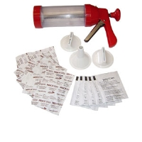 Nesco BJX-5 Large Jerky Kit - Large Jerky Gun, Stainless Steel Trigger, 3 Attachments, 12 Jerky Spice and Cure Packets