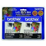 Brother LC51BK - Print cartridge - 2 x black - 500 pages - for DCP 350; FAX 1360, 2580; IntelliFAX 1360, 1860, 1960, 2580; MFC 230, 465, 685, 845, 885
