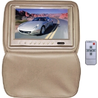 "Pyle  Tan 9"" Adjustable Headrest TFT/LCD Monitor"