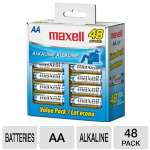 Maxell  AA Gold Series Alkaline Batteries Bulk Retail Pack - 48 Pack
