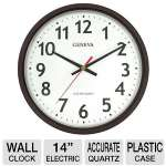 "Geneva Commercial Wall Clocks  14"" Electric Wall Clock"