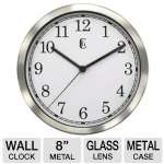 "Geneva Decor Clocks  8"" Metal Wall Clock"