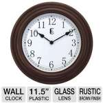 "Geneva Decor Clocks  11.5"" Plastic Wall Clock"