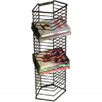 Atlantic 1331 Black 28-DVD Onyx Wire DVD Rack