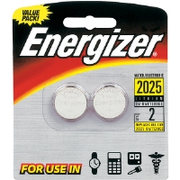Energizer 2025BP-2 3V Lithium Button Cell Battery Retail Pack - 2-Pack