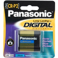 Panasonic CR-P2PA/1B CR-P2 Photo Lithium Battery Retail Pack - Single