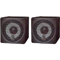 Pyle PCB3BK 3'' 100-Watt Mini Cube Speaker - Black (Pair)