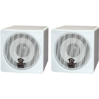 Pyle PCB3WT 3&quot; 100-Watt Mini Cube Speaker - White (Pair)