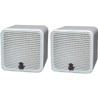"Pyle PCB4WT 4"" Mini-Cube Speakers White"